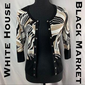 White House Black Market 1/2 Sleeve Cardigan